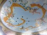 Plafond anges, drapé et cadre