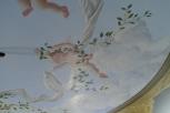 Plafond détail anges drapés