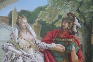 Entrée Hall 2 détail couple Cléopâtre et Antoine